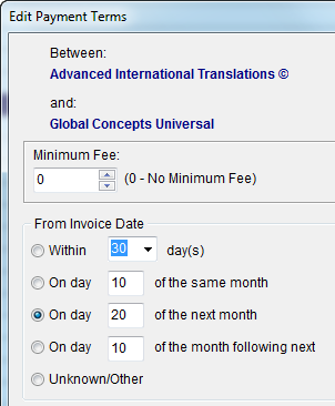 Tracking of Due and Overdue Invoices Translation Agency